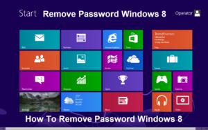 Remove Password Windows 8