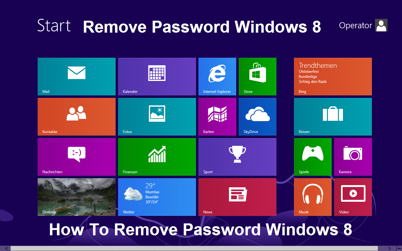 Remove Password Windows 8