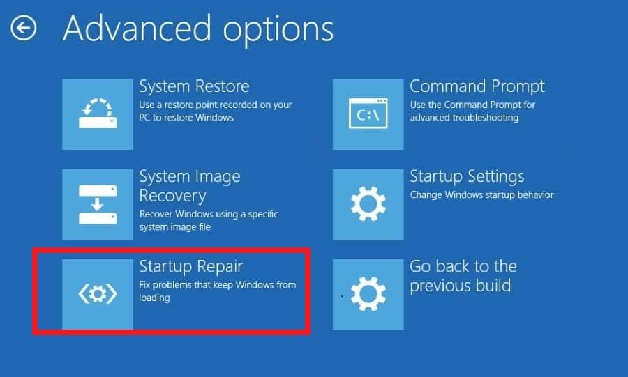 Windows 10 startup Repair