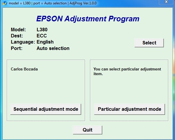 Epson L380 Resetter cracked Rar