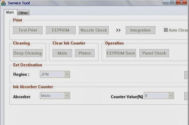 service tool v3400 reset printer