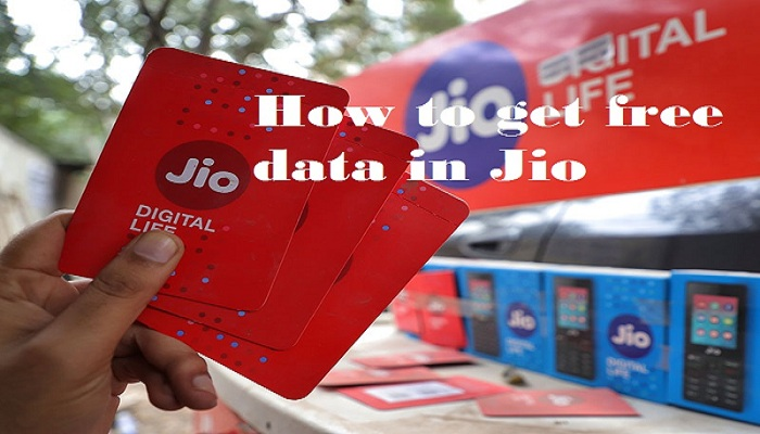 How to get free data in Jio