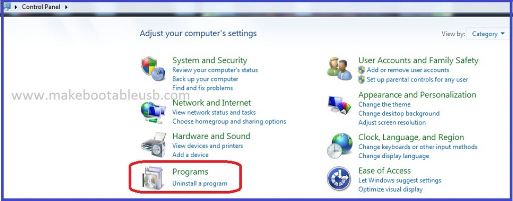 How to uninstall programs on Windows 7 1