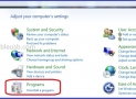 How to uninstall programs on Windows 7