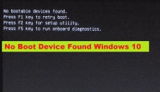 No Boot Device Found Windows 10 – How to Fix Problem