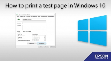 Print Test Page Windows 10 – HP Canon Epson Printers