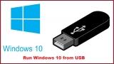 Run Windows 10 from USB – Windows Install With Flash Drive
