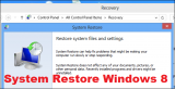 System Restore Windows 8 – How to Reset